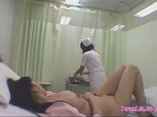 lesbisch, ziekenhuis, aziatisch