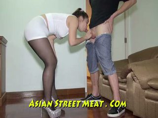 Chained Up Podgy Asian Piglet