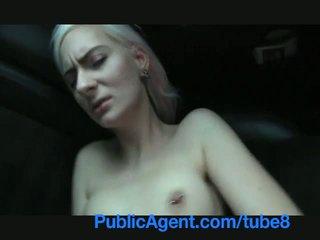 Publicagent blondine stunner shows sexy zwart ondergoed en gets pounded