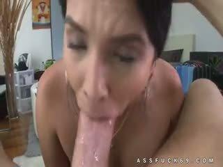 brunete, big boobs, titjob