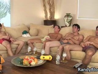 Super sexy chaps v homo čtveřice scéna