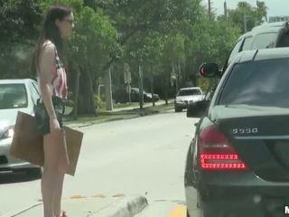 Hitchhiker chick Tali Dava public fucked