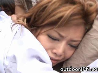 Akane hotaru সেক্সি এশিয়ান মডেল receives গ্রুপ হার্ডকোর