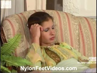 পা ফেটিশ, যৌন মোজা, nylons feet