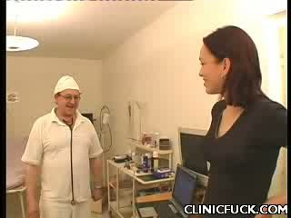 Sexy dark haired hospital tit Play