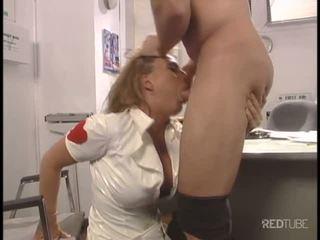 Sexy nurse Avy Scott