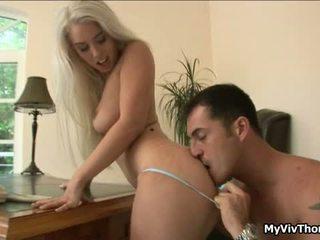 Horny Blonde Nymph Has Sensuous Attractive