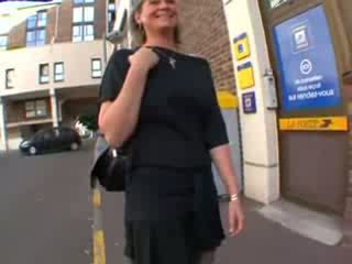 Coralie francesa maduros em meias longas, anal fodido