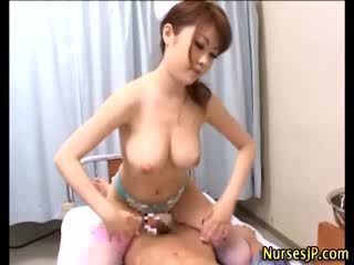 Japanese nurse russian and cumshot action