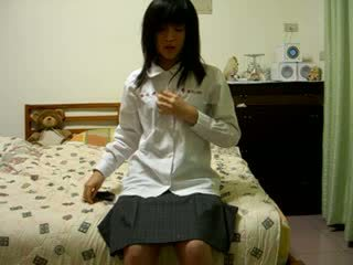 毛茸茸 中國的 女孩 上 凸輪 視頻