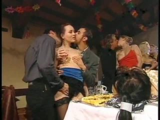 Orgy in a country house