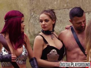 Xxx порно видео - червен maiden а dp пародия с jessa.