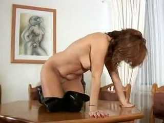 Guy fucked by huge strap on