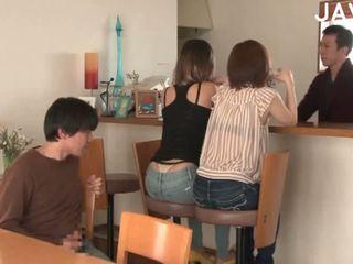 japānas, grupu sekss, cumshot