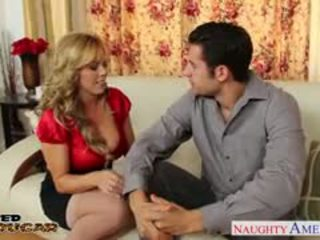 Lustful cougar amber lynn bach taking een groot shaft