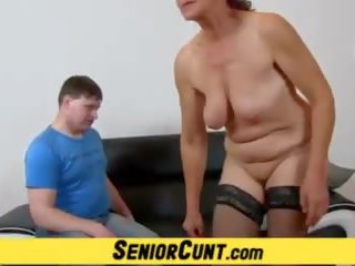 Old Hairy Pussy of Granny Linda Explored up Close: Porn bf