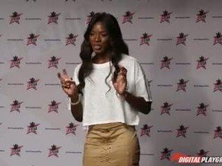 Dp Star 3 - Hot Ebony Former Model Ana Foxxx Deep Throat Blowjob Video