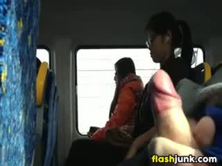 Flashing A Hard Cock In Asia On The Train