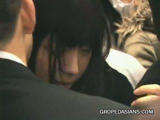 Schoolgirl groped by stranger in train