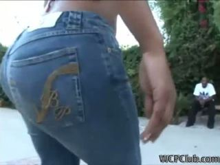 big ass, ebony, jeans