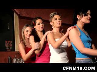 Hot cfnm teen bride orgy with cumshot