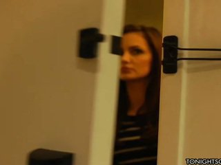 Lily carter is surprised by lizz tayler and they have nice 3 adam