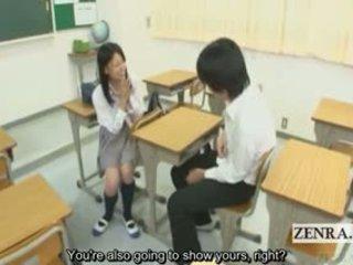 Subtitled CFNM Japanese Schoolgirl Cla...