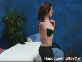 Kautrīga pusaudze seduces masāža klients noķerti par spiegs kamera