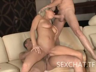 Bree Olson screams like hell when she gets fucked by 2 guys