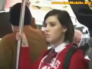 Roztomilý dospívající školačka tápal zneužívány