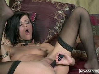 Lusty hot nympho Addison Rose inserts a toy in her tight ass and loves it