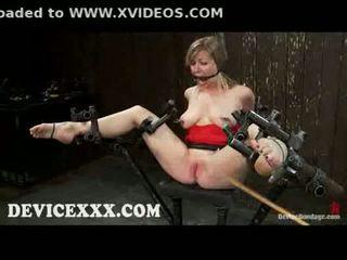 כבול adrianna nicole gets flogged ו - כוס toyed