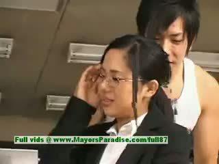 Sora aoi innocent いたずらな アジアの 秘書 enjoys getting