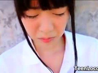 Asian Teen Tennis Student Teasing Softcore