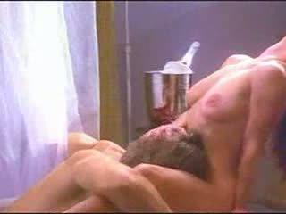porno, corps, léchage