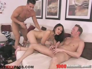 Sexy AsIan Doxy Evelyn Lin Taking A Lively Shlong In Her Mouth Like A Lollipop