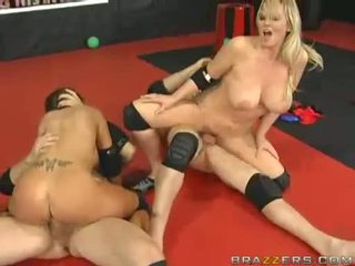 Hot women abbey brooks and ally nunggang and humping on massive meatpoles