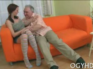 Nasty Old Fucker Is Going To Have Sex With Teen Cutie