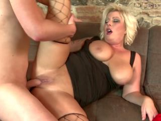 Mature Blond Mom Having Sex with Son, ...