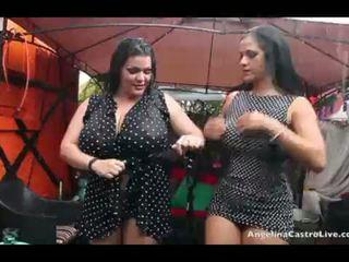Angelina castro ו - מתגעגע raquel כוס לשחק ב the גשם!