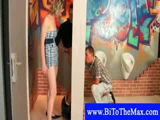 Glory hole cock sucking by bisexual co...