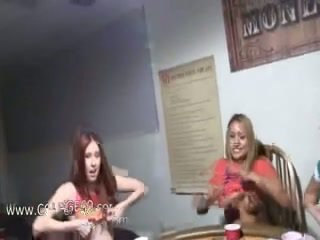 Young girls penetrating on poker night
