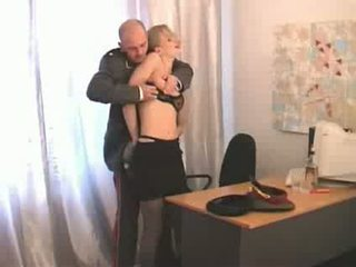 girl, russian, officer