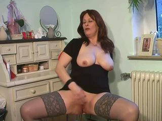 big tits, mature, nylon