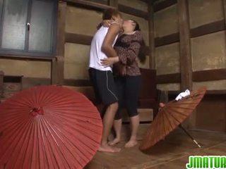 japonais, masturbation, mature