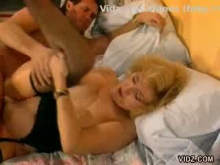 Mature Blonde bitch fucks model boner