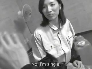 Subtitled pieauguša japānieši sieviete blue apkakle boss