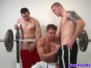 Muscle jock futand poponar la sala de forta