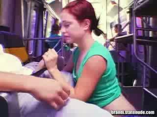 Público modelo mamada en miami autobús