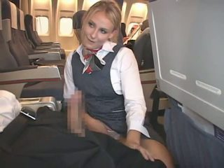 wytryski, interracial, stewardess